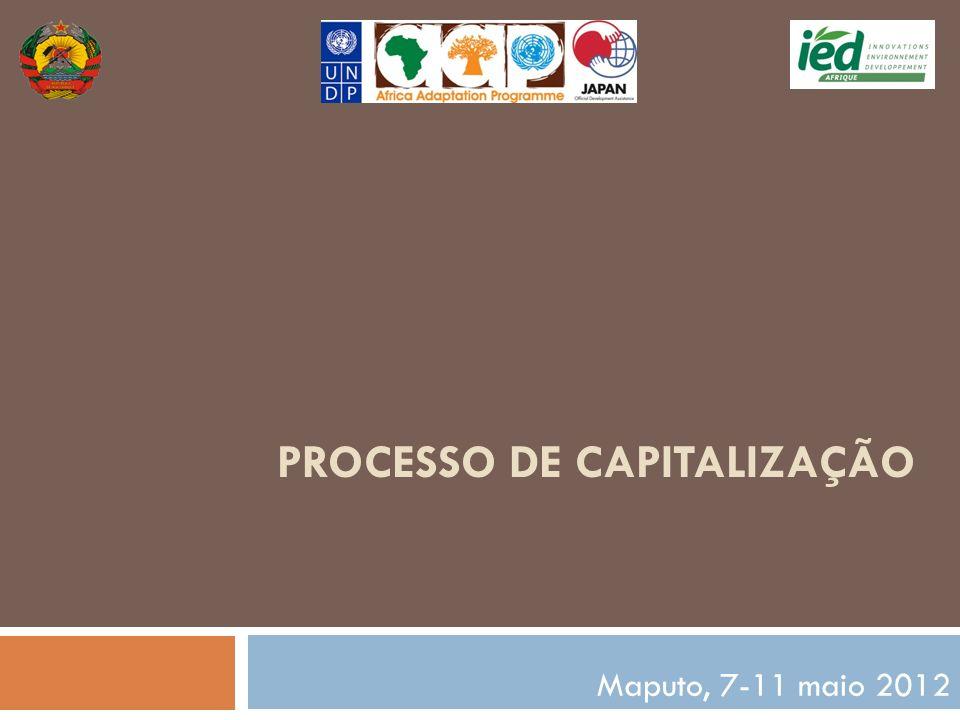 PROCESSO DE CAPITALIZAÇÃO Maputo, 7-11 maio 2012