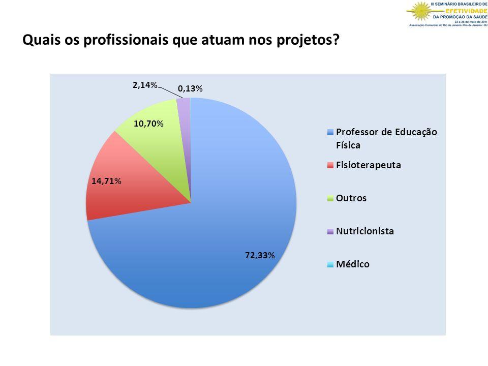 Quais os profissionais que atuam nos projetos?