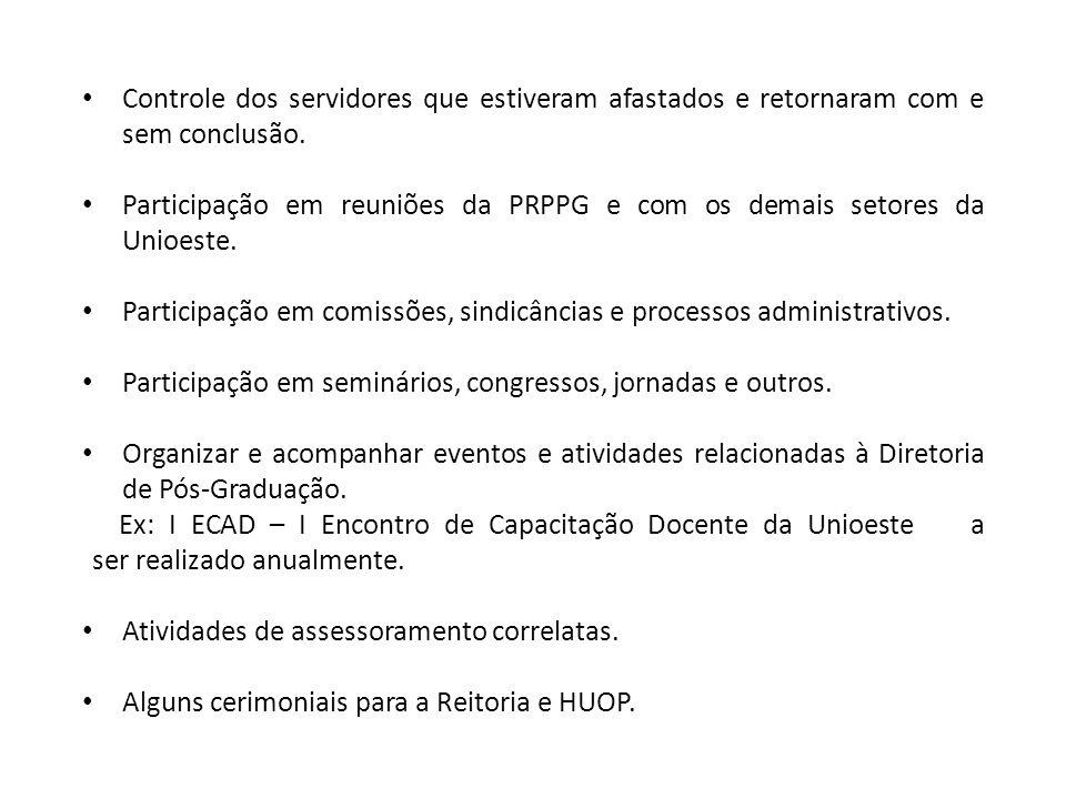 RESOLUÇÕES AFETAS Capacitação Docente: Resolução nº 176/2004 – CEPE – Aprova o Regulamento do Plano de Qualificação Docente da Unioeste.