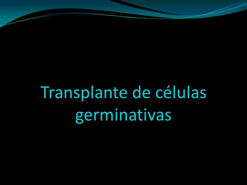Transplante de células germinativas