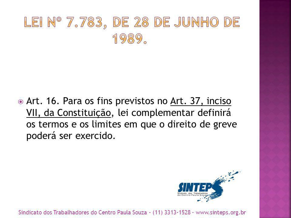 CONSTITUIÇÃO FEDERAL Art.37.