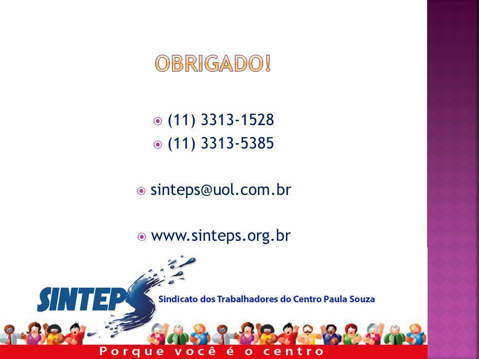 (11) 3313-1528 (11) 3313-5385 sinteps@uol.com.br www.sinteps.org.br