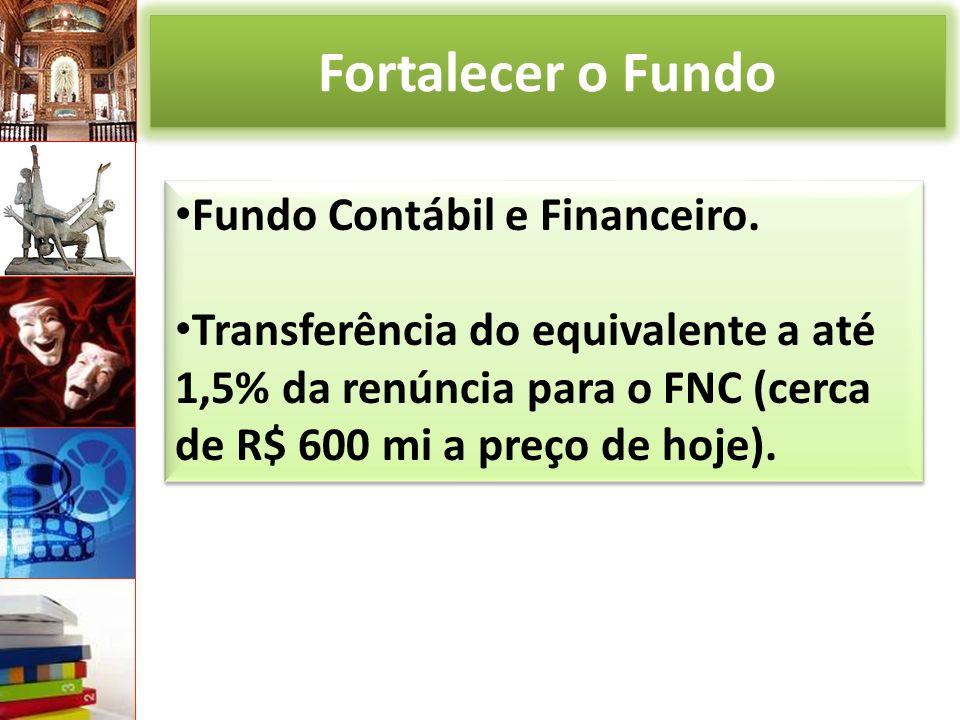 Fortalecer o Fundo Fundo Contábil e Financeiro.