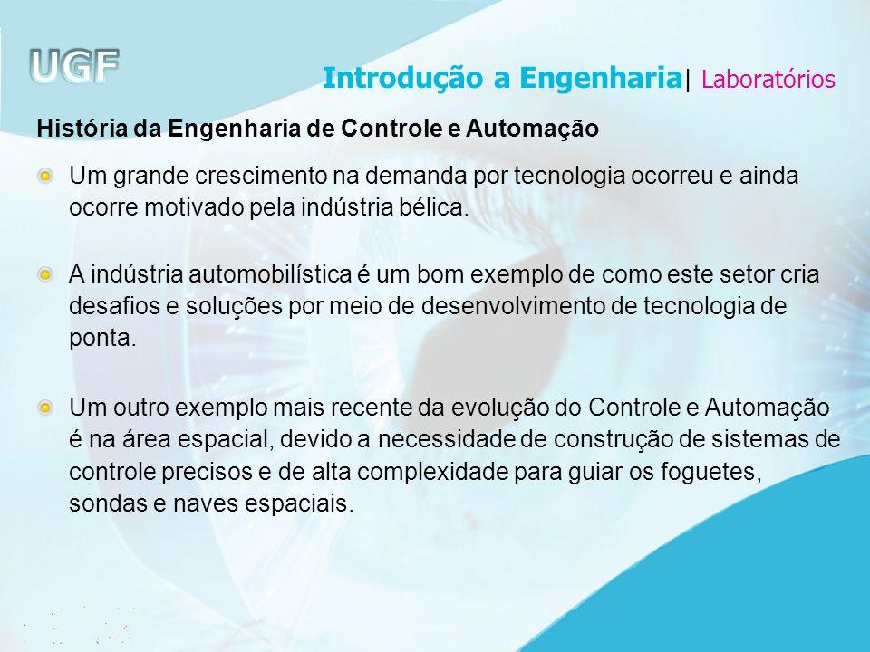 História da Engenharia de Controle e Automação Um grande crescimento na demanda por tecnologia ocorreu e ainda ocorre motivado pela indústria bélica.