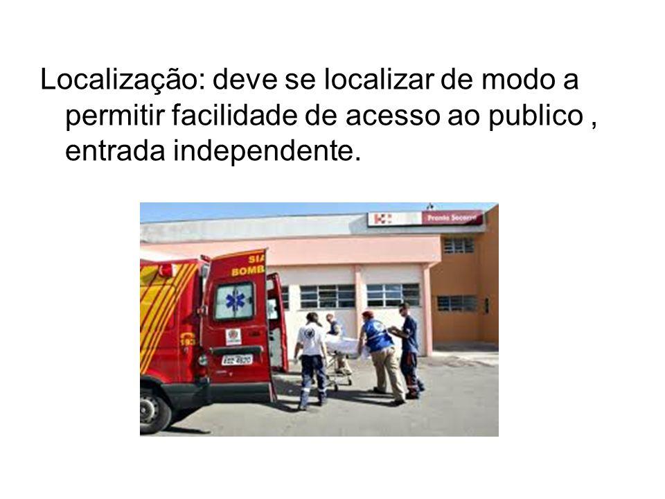 Localização: deve se localizar de modo a permitir facilidade de acesso ao publico, entrada independente.