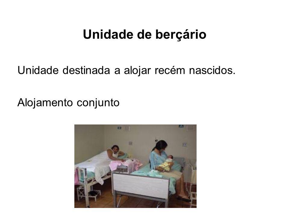 Unidade de berçário Unidade destinada a alojar recém nascidos. Alojamento conjunto