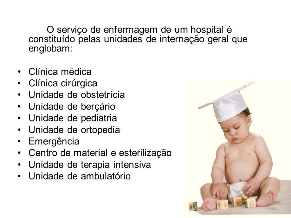 Se o serviço dispõe de todas essas especialidades, o hospital é de grande ou médio porte.