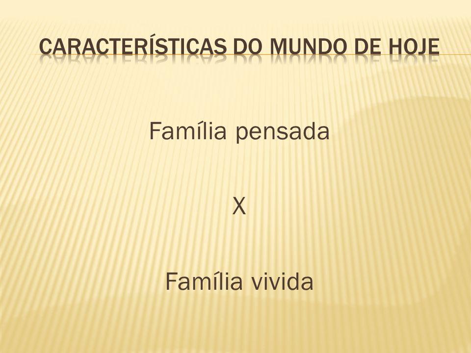 Família pensada X Família vivida