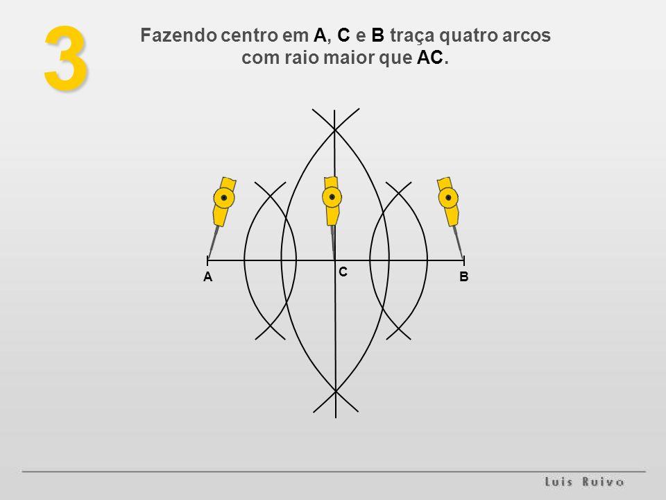 AB CED4 Temos então o segmento AB dividido em quatro partes iguais.