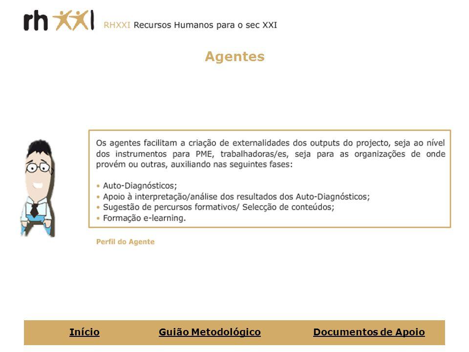 Agentes InícioGuião MetodológicoDocumentos de Apoio