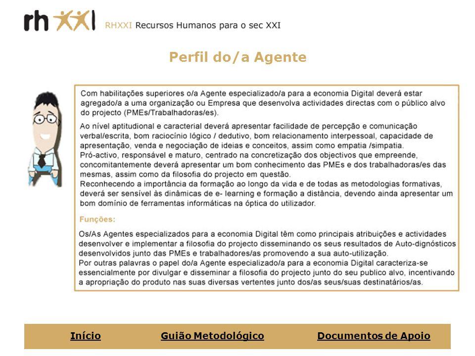 Perfil do/a Agente InícioGuião MetodológicoDocumentos de Apoio
