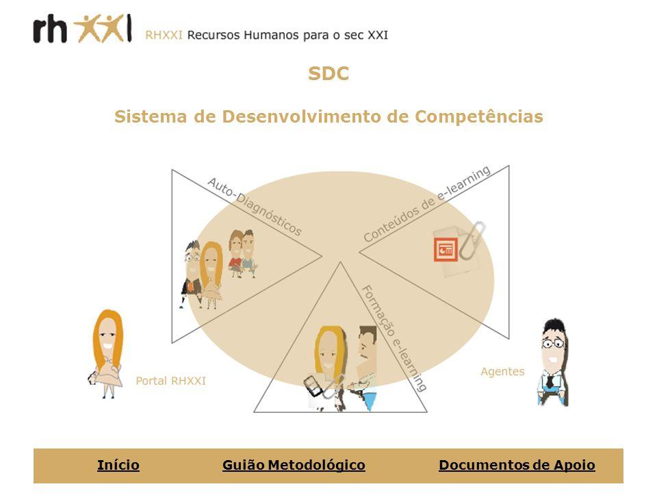 Conteúdos e-learning - Gestão Comercial - Gestão da Informação e do Conhecimento - Gestão da Inovação - Gestão de Recursos Humanos - Gestão Estratégica - Inglês - Trabalho em Rede e em Equipa - Gestão da Informação e do Conhecimento - Tecnologias de Informação e Comunicação - Gestão e Organização do Trabalho InícioGuião MetodológicoDocumentos de Apoio Empresa/OrganizaçãoColaboradores/as