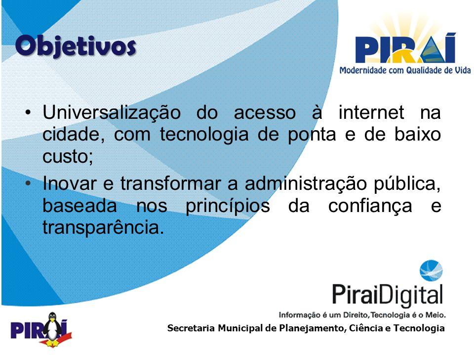 http://www.triadesolucoes.com.brE-mail: comercial@triadesolucoes.com.br Secretaria Municipal de Planejamento, Ciência e Tecnologia Projeto UCA