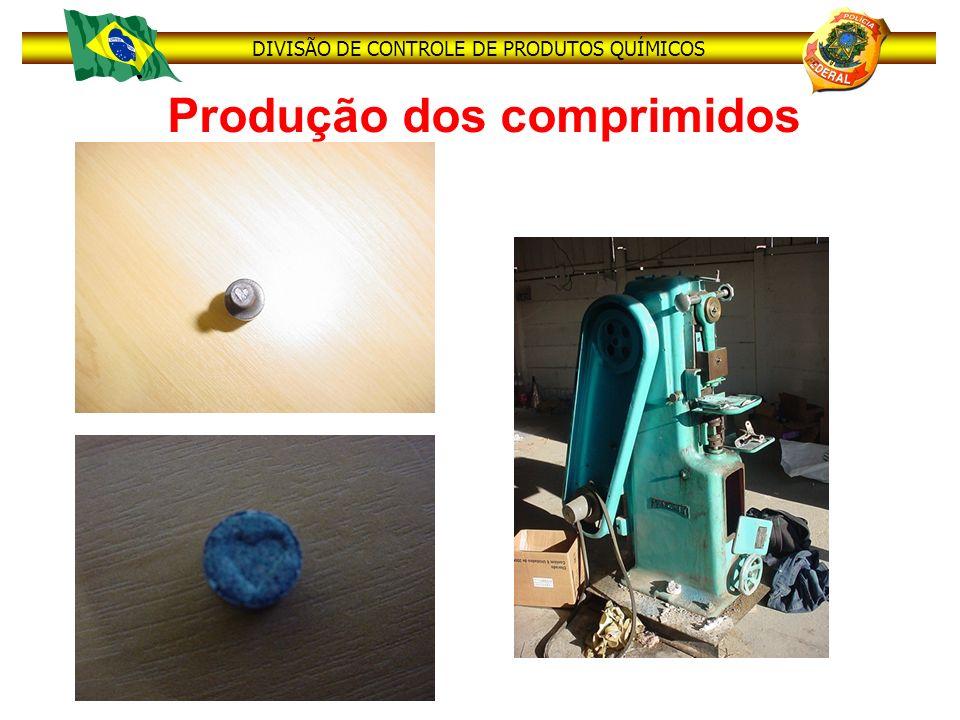 DIVISÃO DE CONTROLE DE PRODUTOS QUÍMICOS Produção dos comprimidos