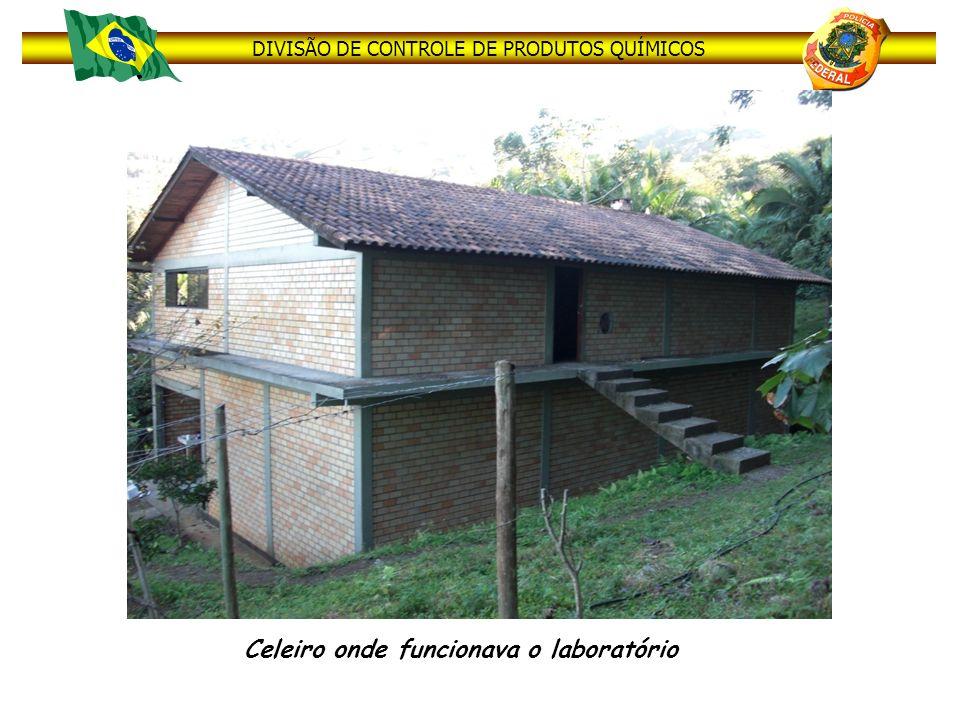 DIVISÃO DE CONTROLE DE PRODUTOS QUÍMICOS Celeiro onde funcionava o laboratório