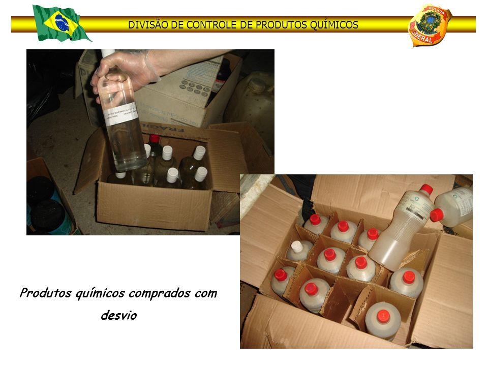 DIVISÃO DE CONTROLE DE PRODUTOS QUÍMICOS Produtos químicos comprados com desvio