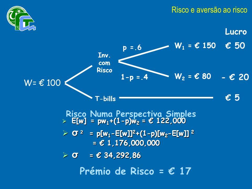 W 1 = 150 W 2 = 80 p =.6 1-p =.4 W= 100 Inv.