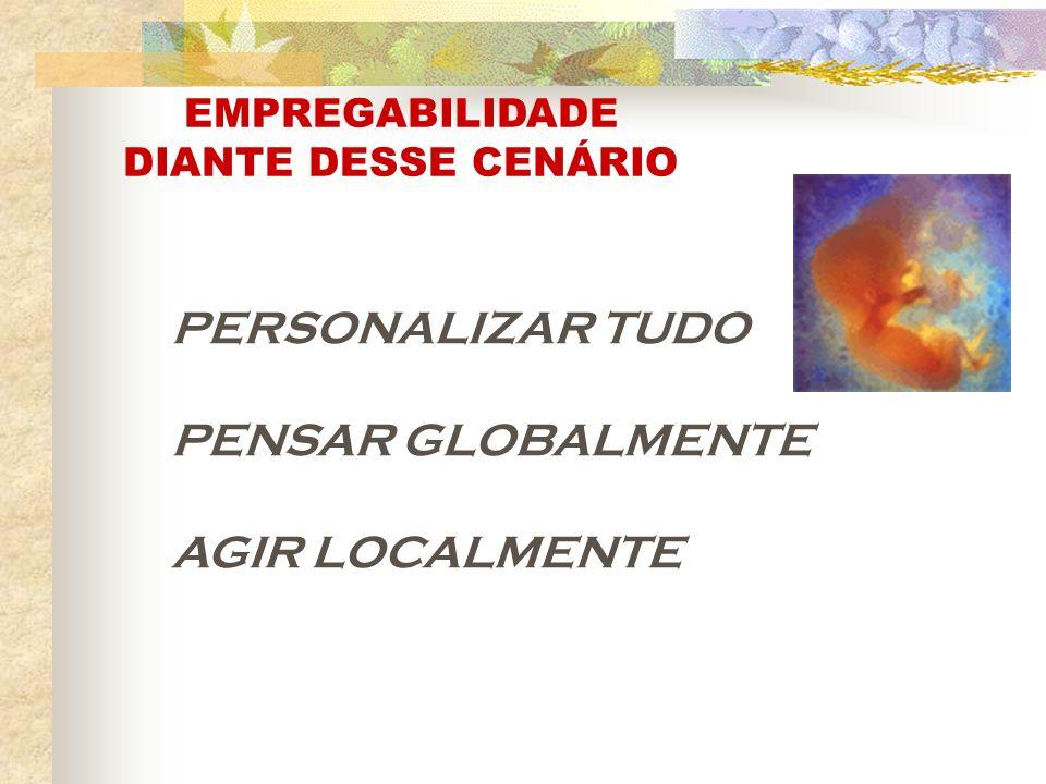 PERSONALIZAR TUDO PENSAR GLOBALMENTE AGIR LOCALMENTE EMPREGABILIDADE DIANTE DESSE CENÁRIO