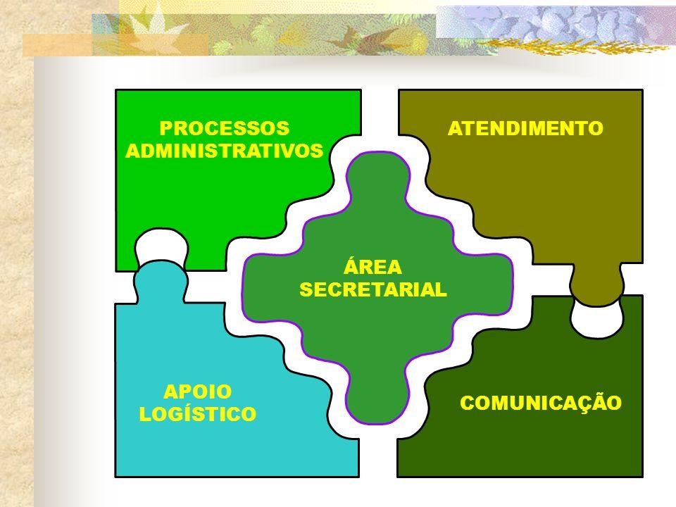 ÁREA SECRETARIAL PROCESSOS ADMINISTRATIVOS ATENDIMENTO APOIO LOGÍSTICO COMUNICAÇÃO