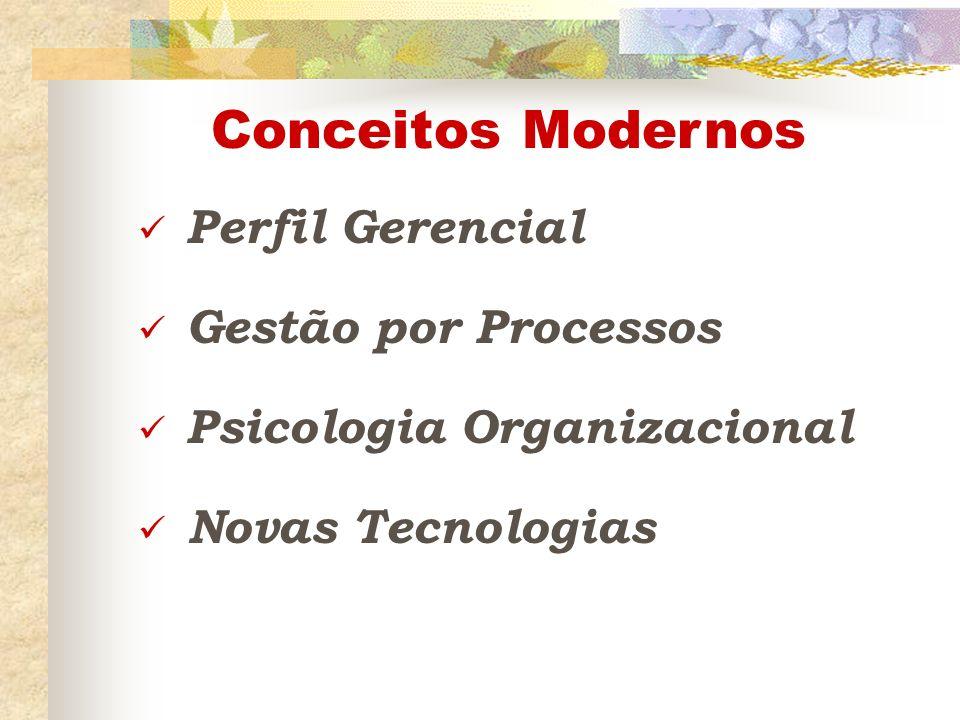 Conceitos Modernos Perfil Gerencial Gestão por Processos Psicologia Organizacional Novas Tecnologias