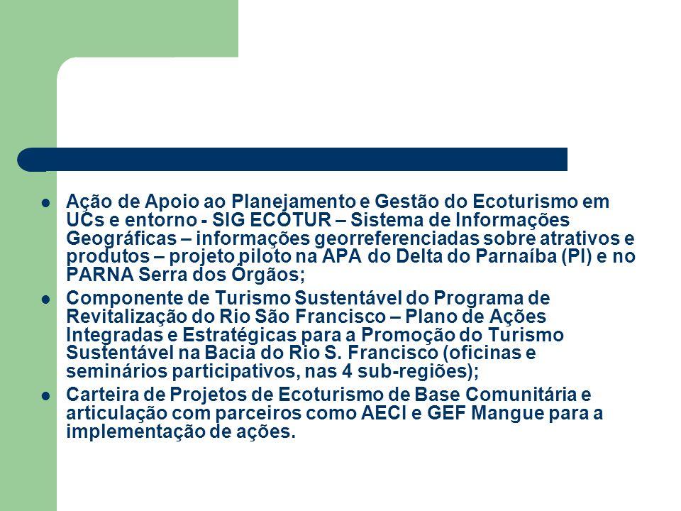 Ação de Apoio ao Planejamento e Gestão do Ecoturismo em UCs e entorno - SIG ECOTUR – Sistema de Informações Geográficas – informações georreferenciada