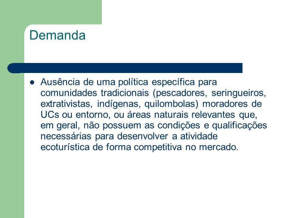 Demanda Ausência de uma política específica para comunidades tradicionais (pescadores, seringueiros, extrativistas, indígenas, quilombolas) moradores