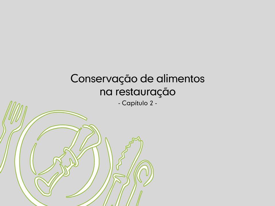 Conservação de Alimentos á Temperatura Ambiente Os alimentos conservados à temperatura ambiente (10 a 21 ºC) são na sua maioria alimentos não perecíveis.