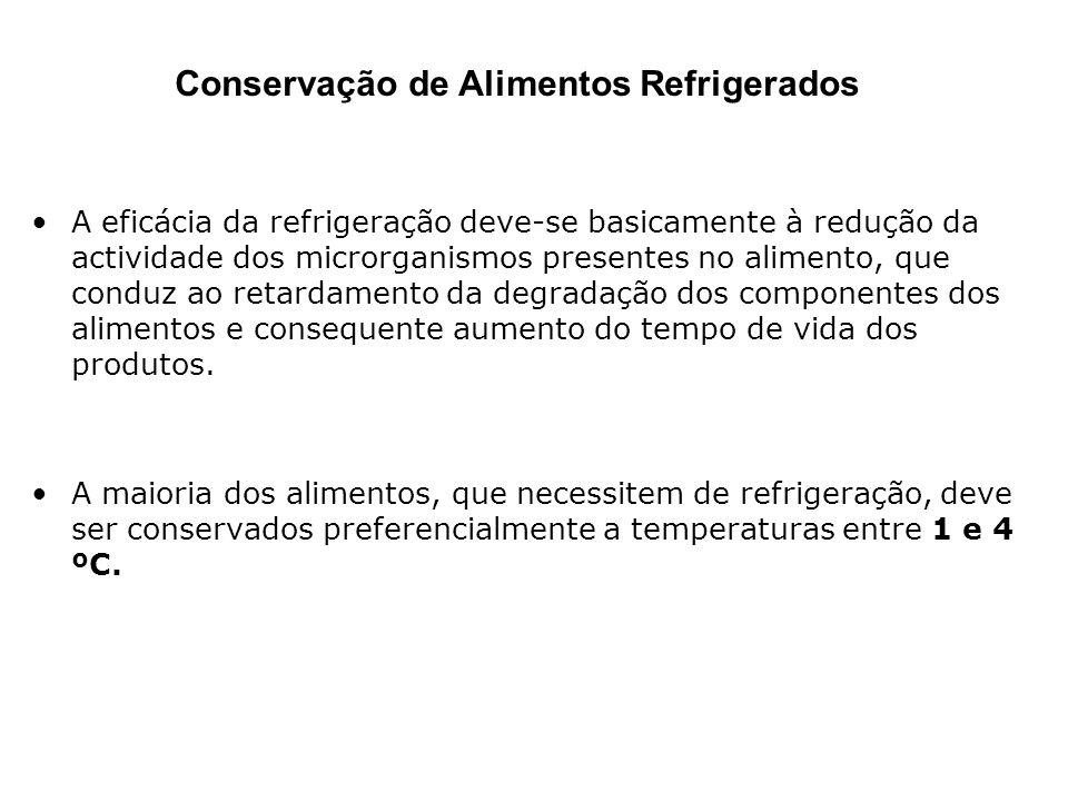 A eficácia da refrigeração deve-se basicamente à redução da actividade dos microrganismos presentes no alimento, que conduz ao retardamento da degrada