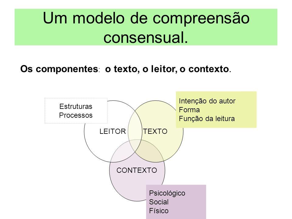 CONTEXTO TEXTOLEITOR Um modelo de compreensão consensual.