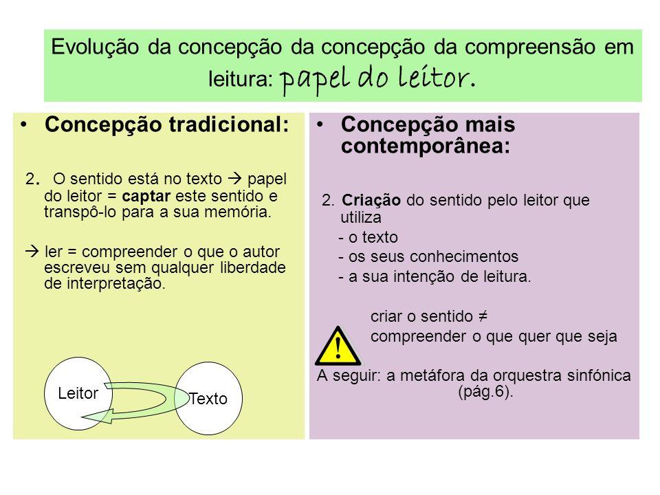 Concepção tradicional: 2.