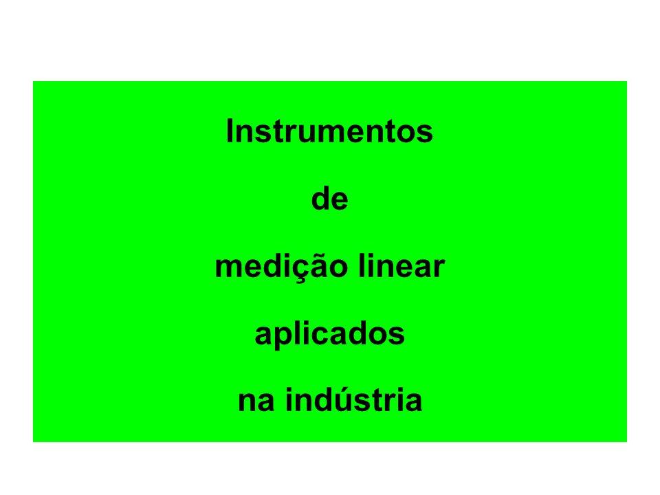 Instrumentos de medição linear aplicados na indústria