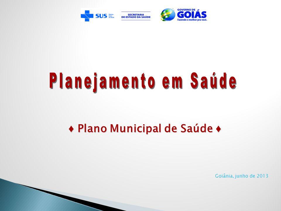 Goiânia, junho de 2013 Plano Municipal de Saúde Plano Municipal de Saúde
