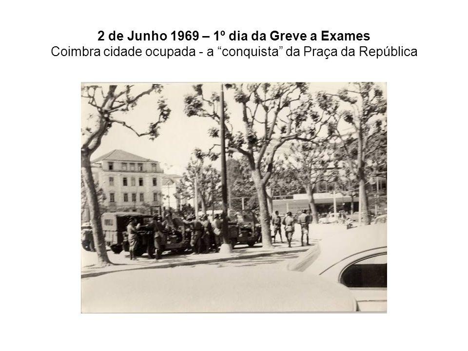 2 de Junho 1969 – 1º dia da Greve a Exames Coimbra cidade ocupada - a conquista da Praça da República