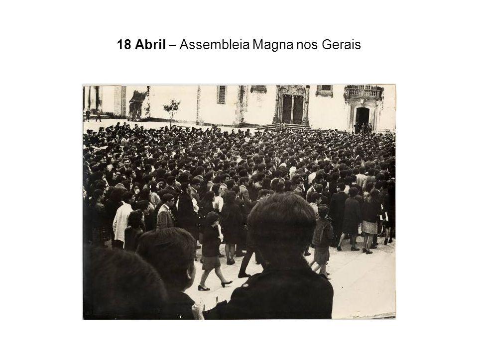 18 Abril – Assembleia Magna nos Gerais