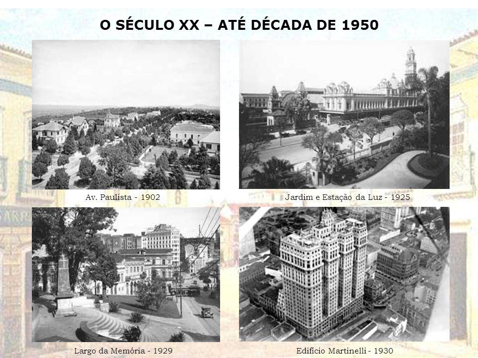 O SÉCULO XX – ATÉ DÉCADA DE 1950 Av.
