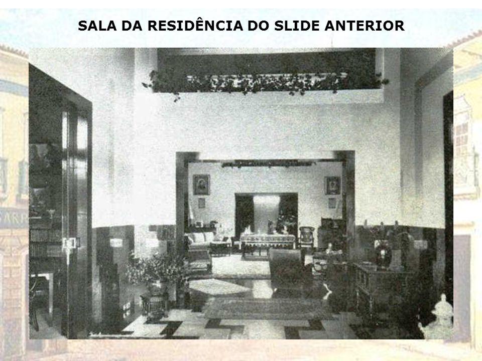 MANSÃO DO CASAL ANTONIETA E CAIO DA SILVA PRADO NA AV. HIGIENÓPOLIS ESQ. DA R. SABARÁ – DÉCADA DE 1920