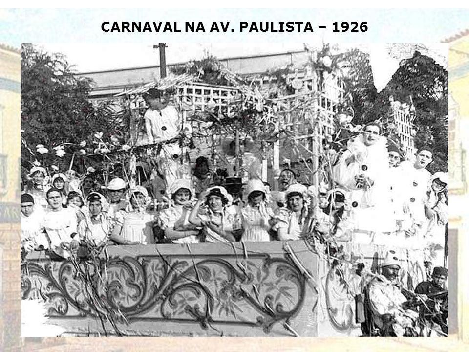 CARNAVAL NA AV. PAULISTA – 1926