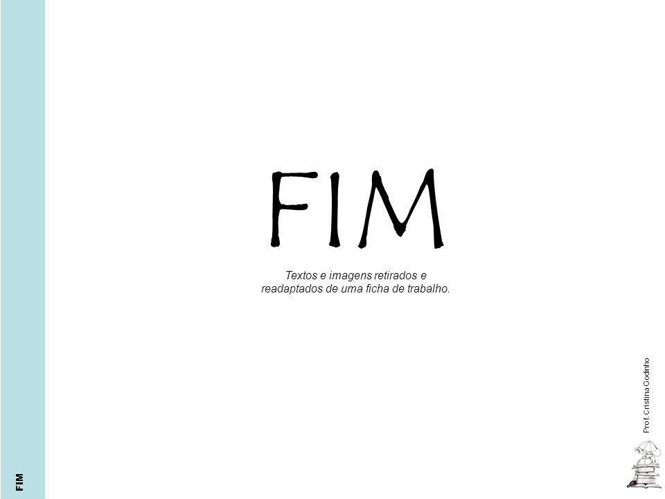 Cristina Godinho Textos e imagens retirados e readaptados de uma ficha de trabalho. Prof. Cristina Godinho FIM