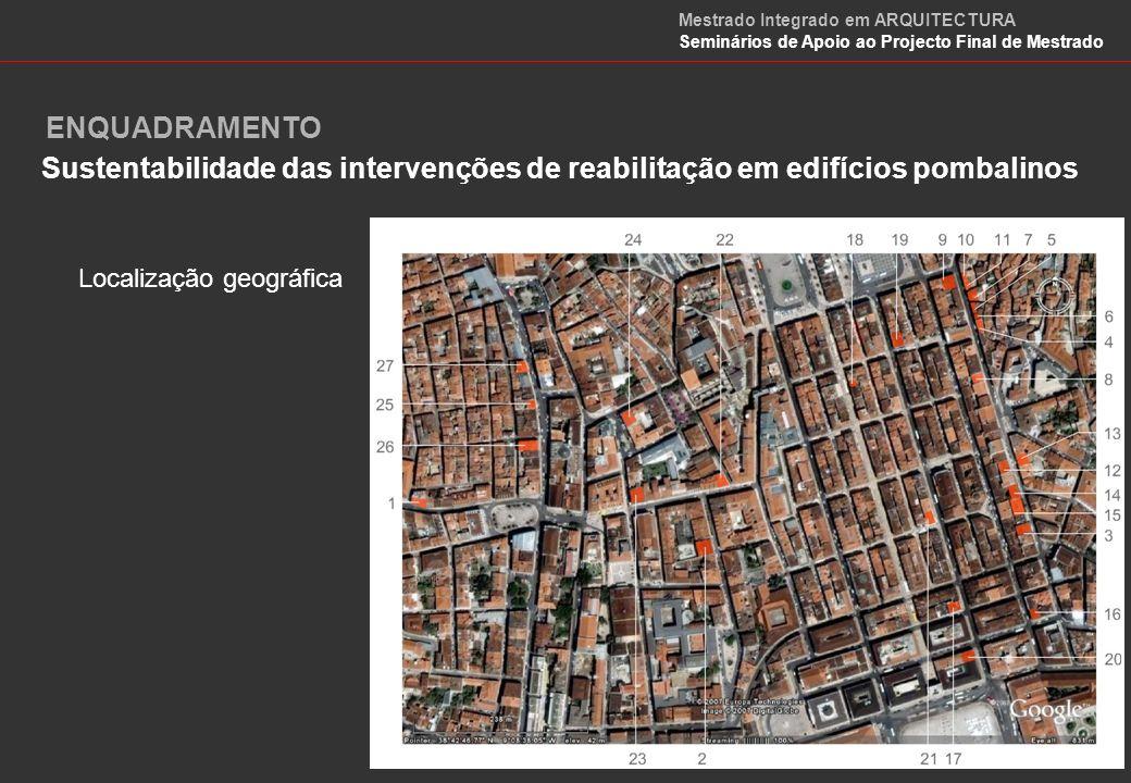 Caracterização da habitação em Maputo Localização geográfica ENQUADRAMENTO Mestrado Integrado em ARQUITECTURA Seminários de Apoio ao Projecto Final de Mestrado
