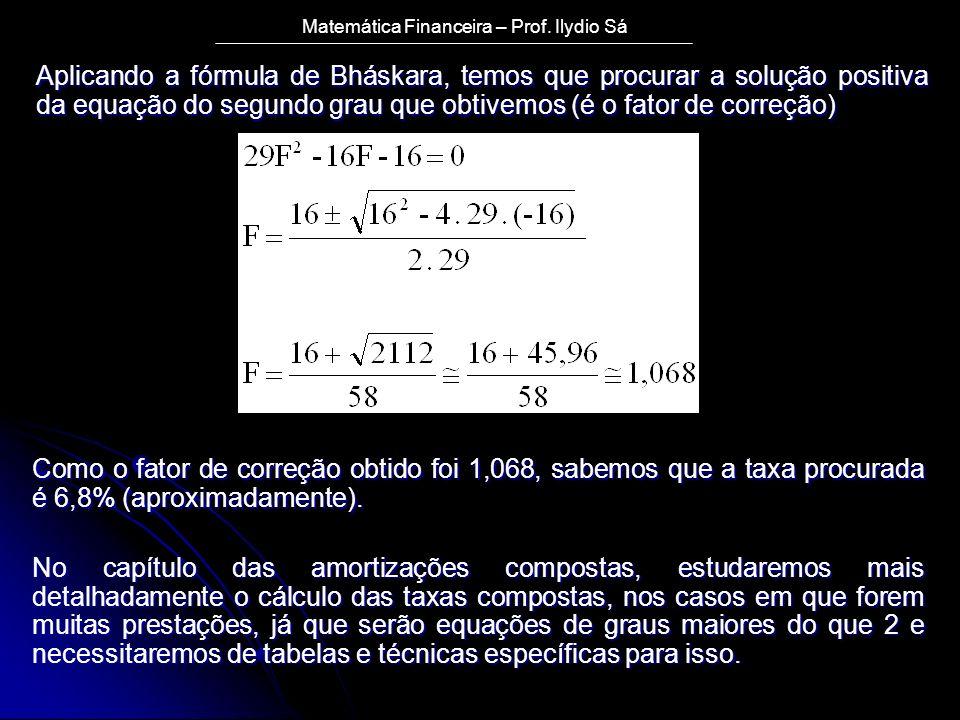Matemática Financeira – Prof.