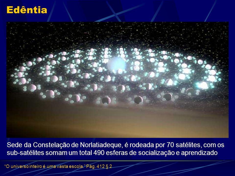 Edêntia Sede da Constelação de Norlatiadeque, é rodeada por 70 satélites, com os sub-satélites somam um total 490 esferas de socialização e aprendizad