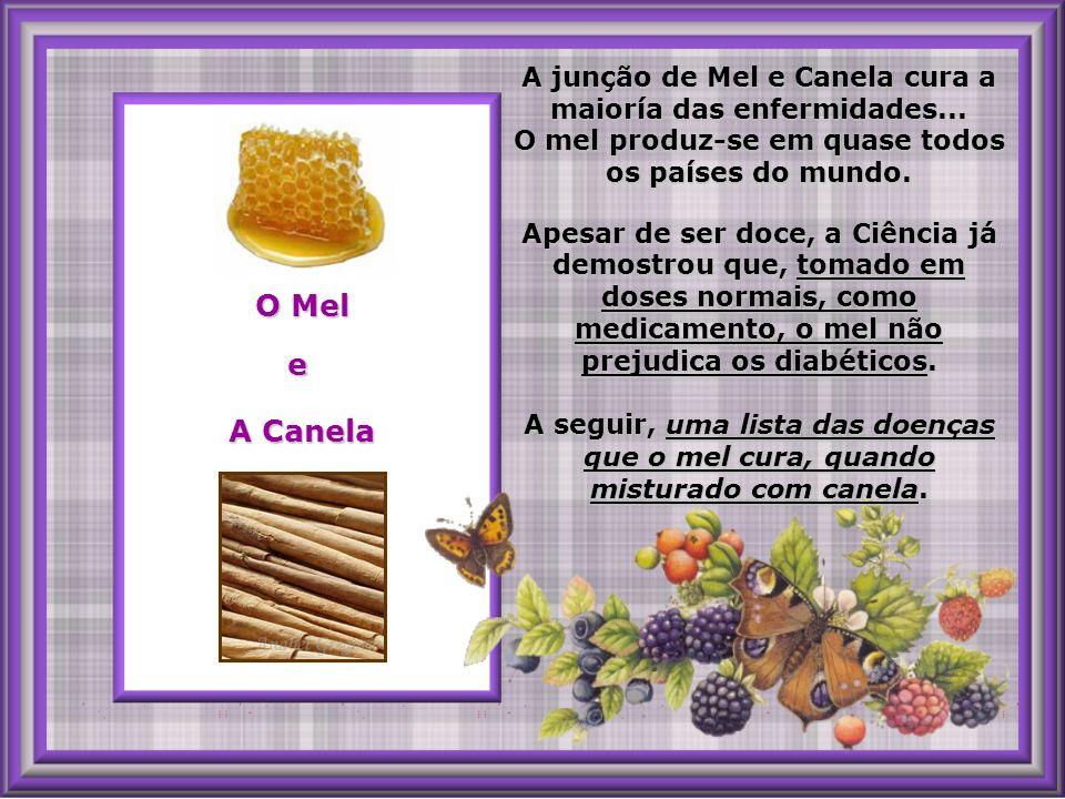 A junção de Mel e Canela cura a maioría das enfermidades...