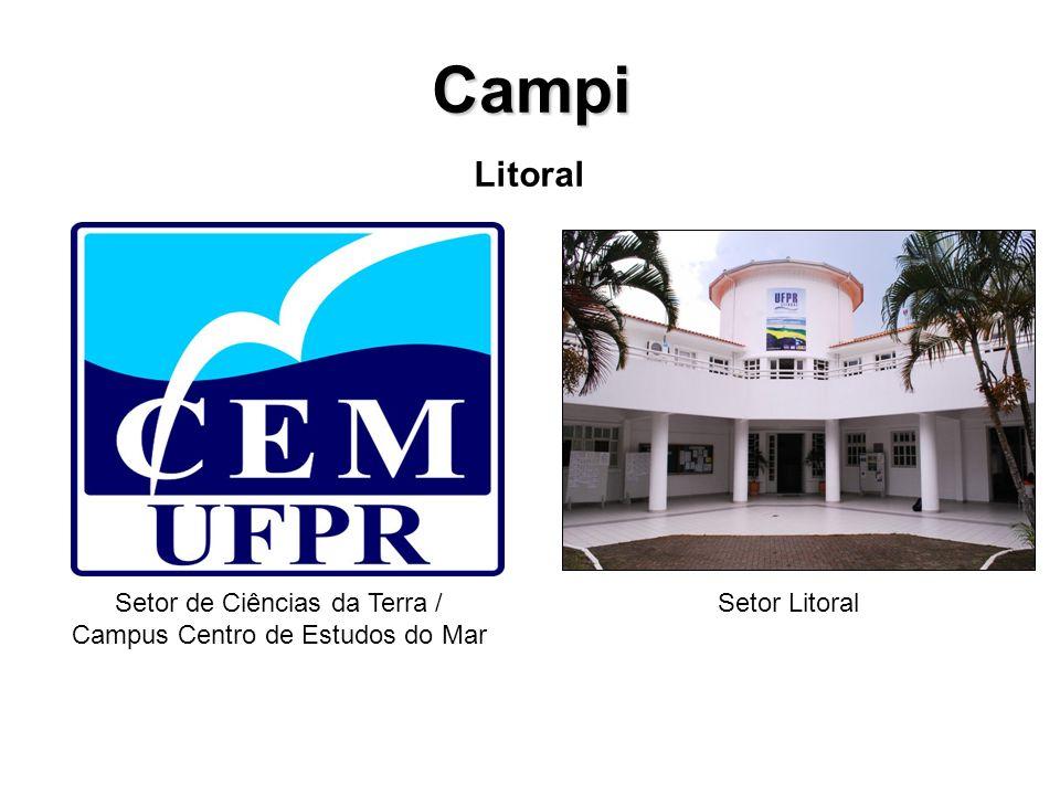 Campi Litoral Setor de Ciências da Terra / Campus Centro de Estudos do Mar Setor Litoral