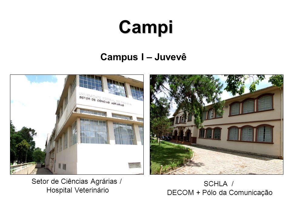 Campi Campus I – Juvevê Setor de Ciências Agrárias / Hospital Veterinário SCHLA / DECOM + Pólo da Comunicação