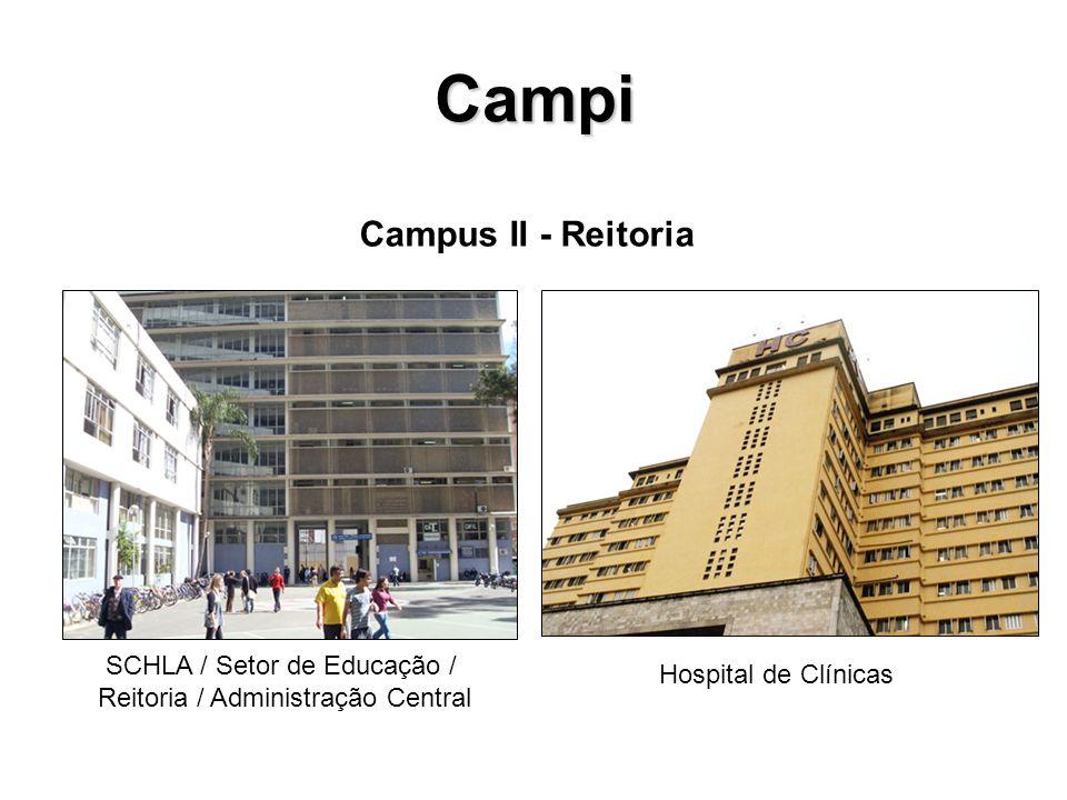 Campi Campus II - Reitoria SCHLA / Setor de Educação / Reitoria / Administração Central Hospital de Clínicas