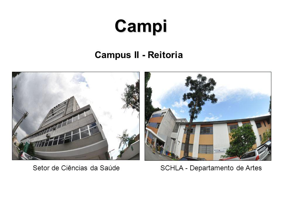 Campi Setor de Ciências da SaúdeSCHLA - Departamento de Artes Campus II - Reitoria