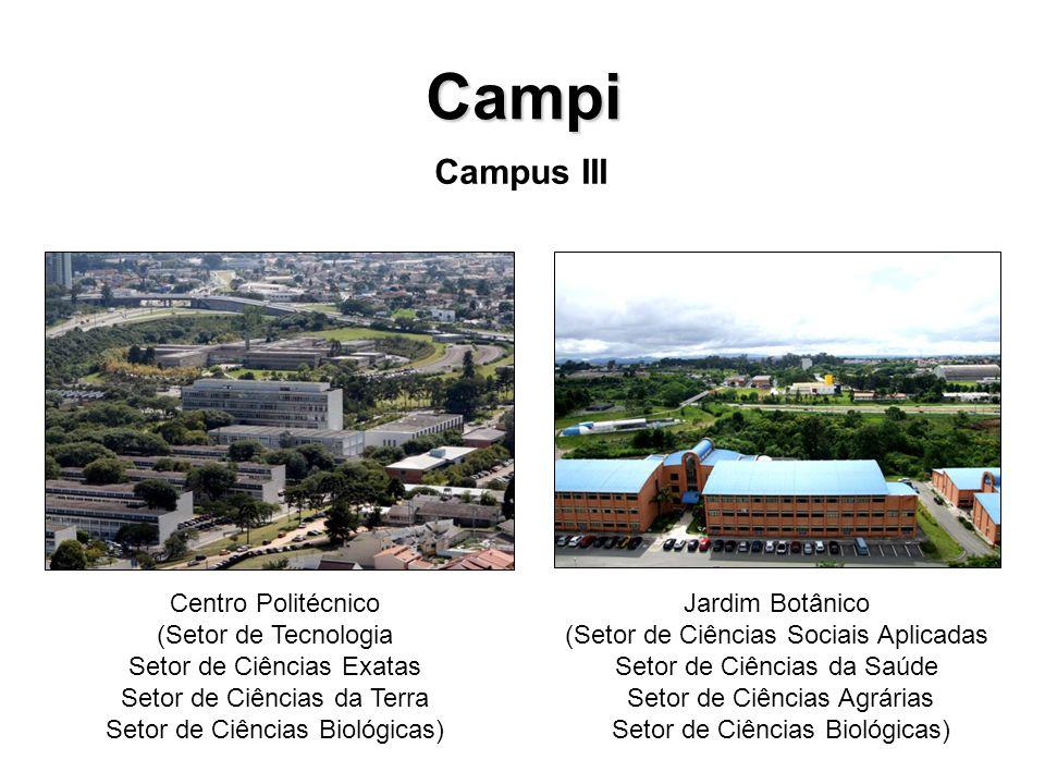Campi Campus III Centro Politécnico (Setor de Tecnologia Setor de Ciências Exatas Setor de Ciências da Terra Setor de Ciências Biológicas) Jardim Botâ