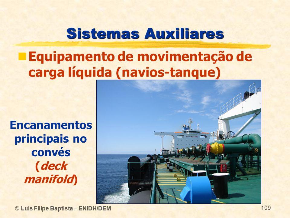 © Luis Filipe Baptista – ENIDH/DEM 109 © Luis Filipe Baptista – ENIDH/DEM 109 Sistemas Auxiliares Equipamento de movimentação de carga líquida (navios