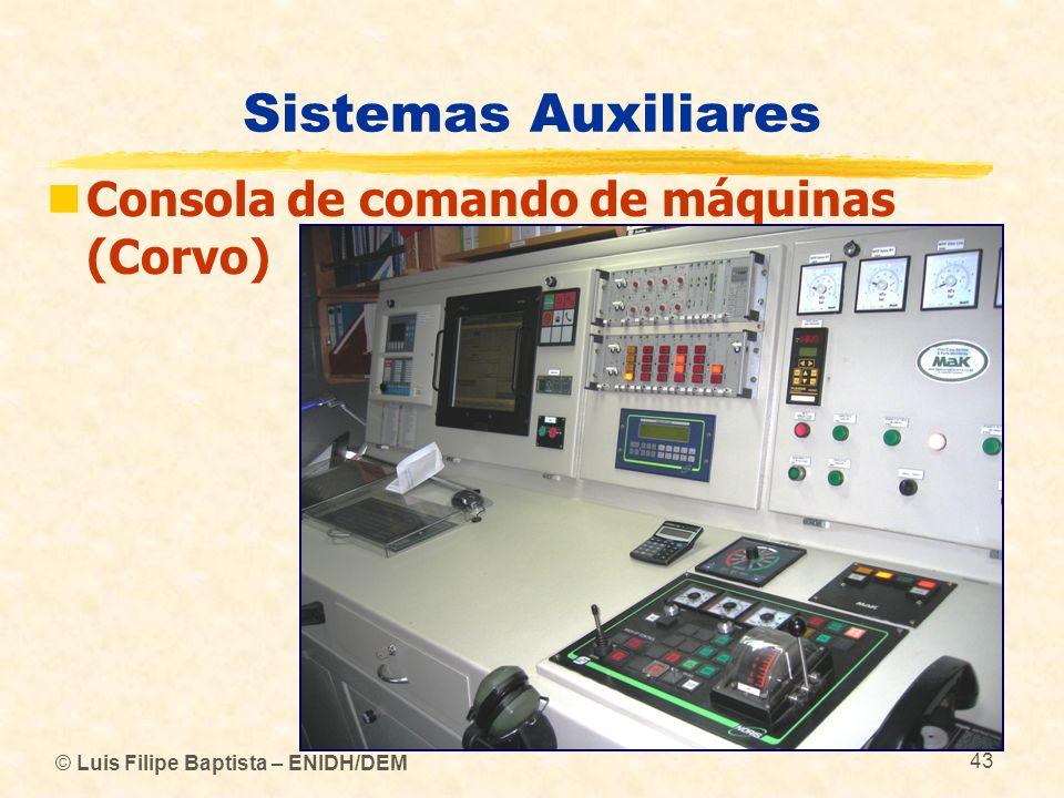 © Luis Filipe Baptista – ENIDH/DEM 43 Sistemas Auxiliares Consola de comando de máquinas (Corvo)