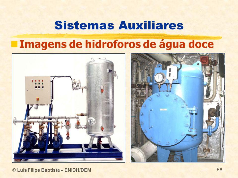 © Luis Filipe Baptista – ENIDH/DEM 56 Sistemas Auxiliares Imagens de hidroforos de água doce